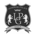 Ledreborg Palace Golf Club logo i sort og hvid